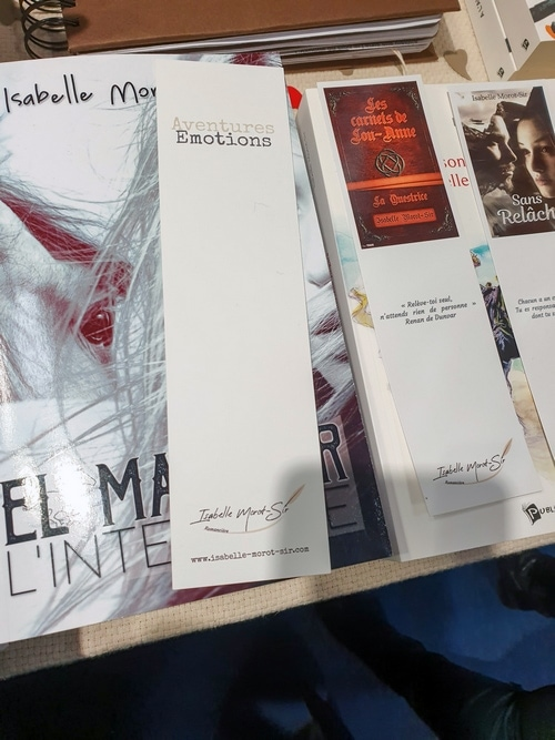 Marque-pages d'Isabelle Morot-Sir pour le salon du livre Paris 2019