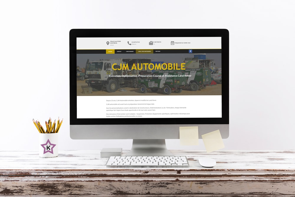 Projet fictif : CJM Automobile